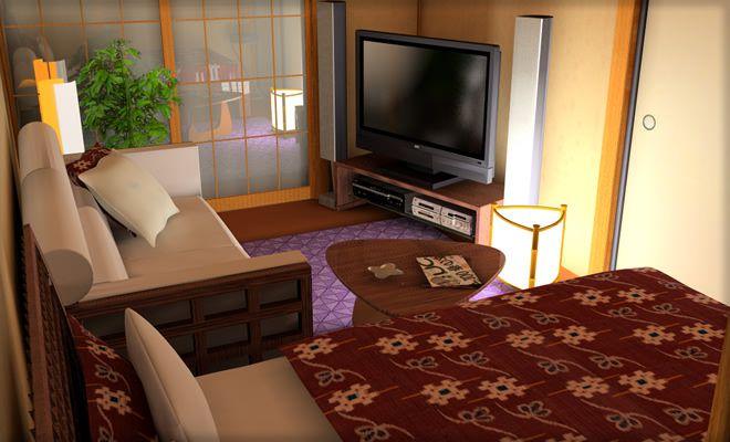 4畳半の和室にベッドを配置