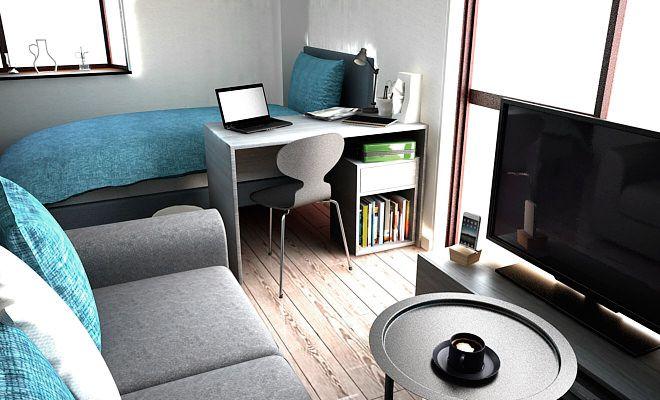 5畳にソファーを配置したレイアウト