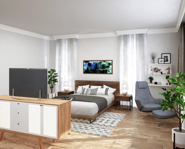 正方形のお部屋の王道レイアウト例