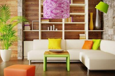 カラフルな居室