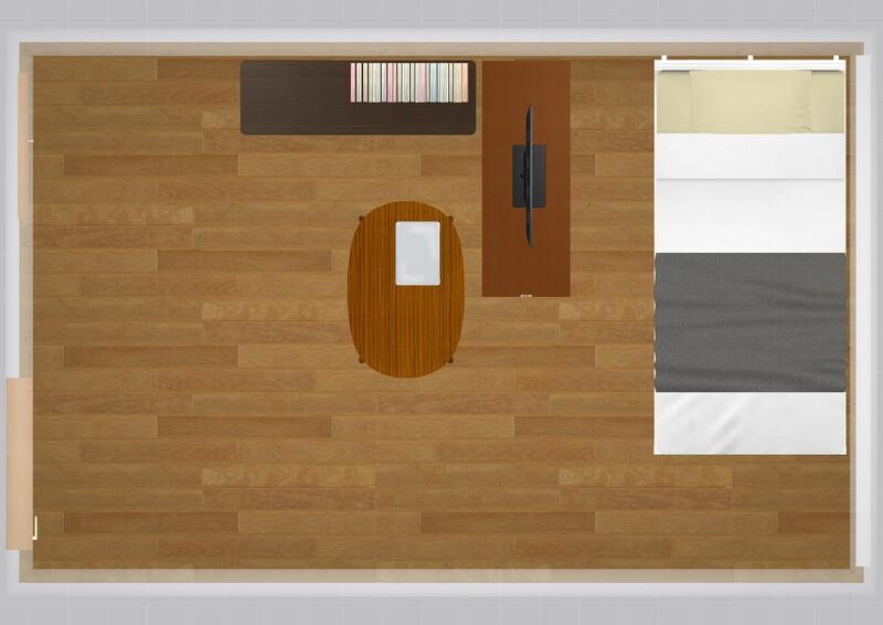 25平米の家具配置シミュレーション