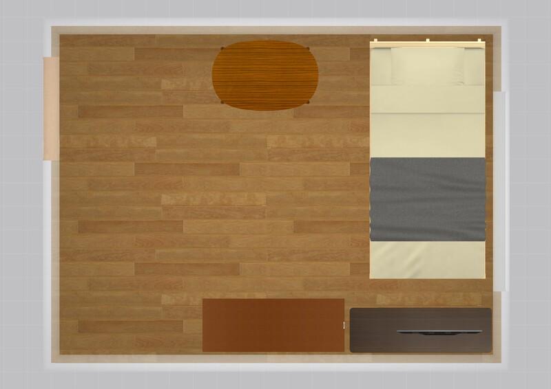 18平米の家具配置例