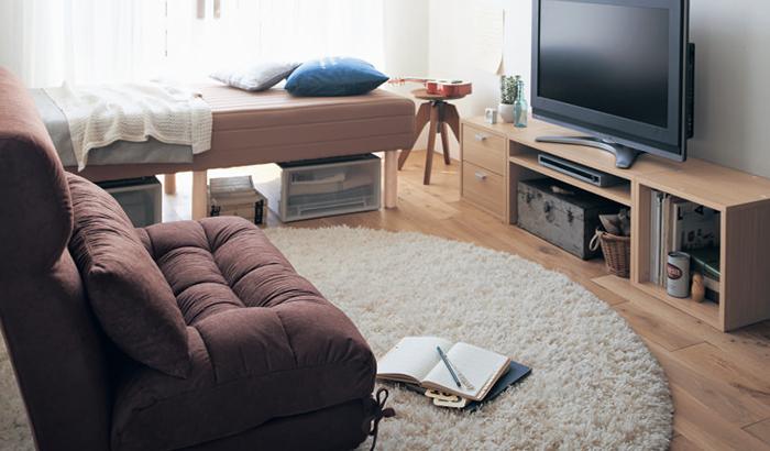 ソファーを配置したレイアウト