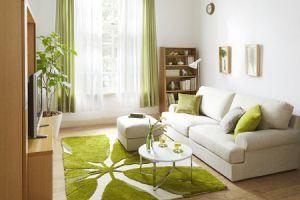 黄色や黄緑を取り入れて明るい雰囲気のレイアウト