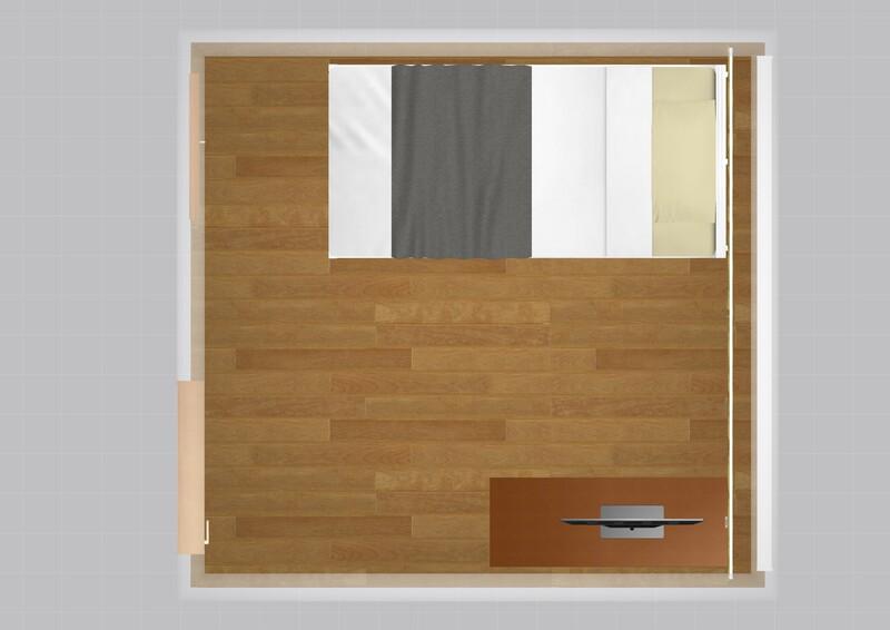 15平米のお部屋の家具配置例