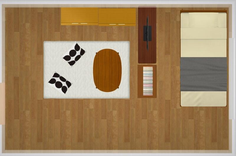 30平米のお部屋の家具配置シミュレーション