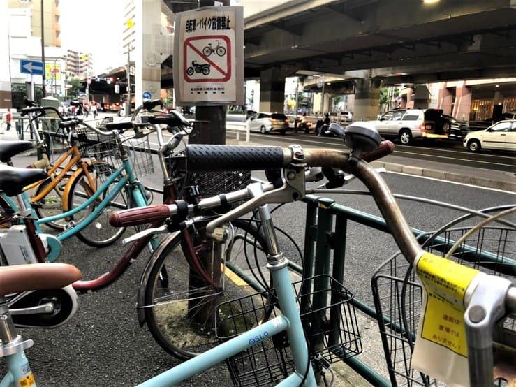 大崎広小路の違法駐輪