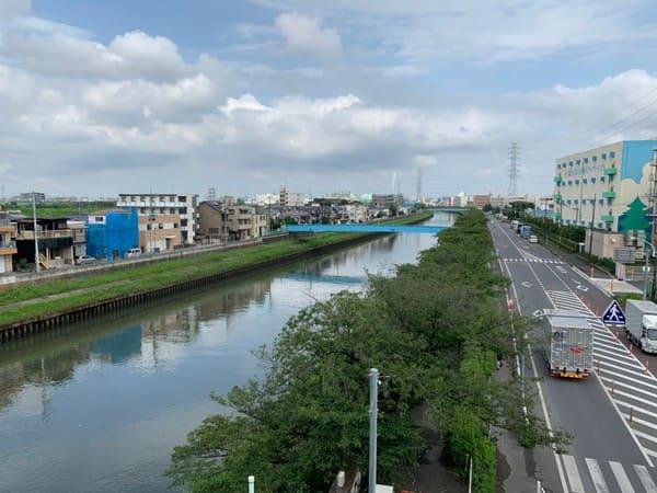 新河岸川の風景