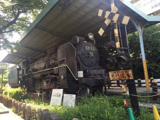城北交通公園にある蒸気機関車