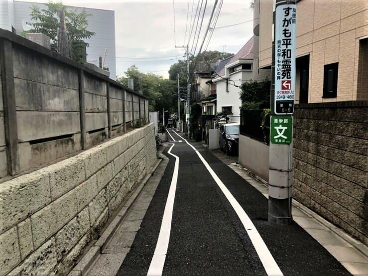 徳栄山付近の街