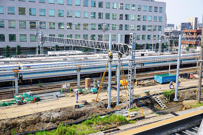 東武鉄道診療所と整備車両