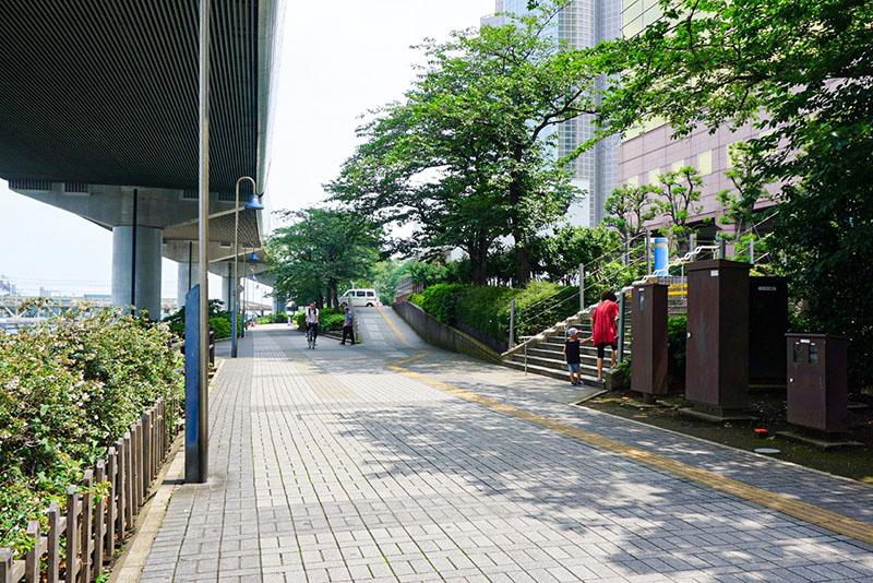 区役所前の歩道