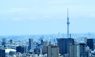 スカイツリーが見える東京の風景