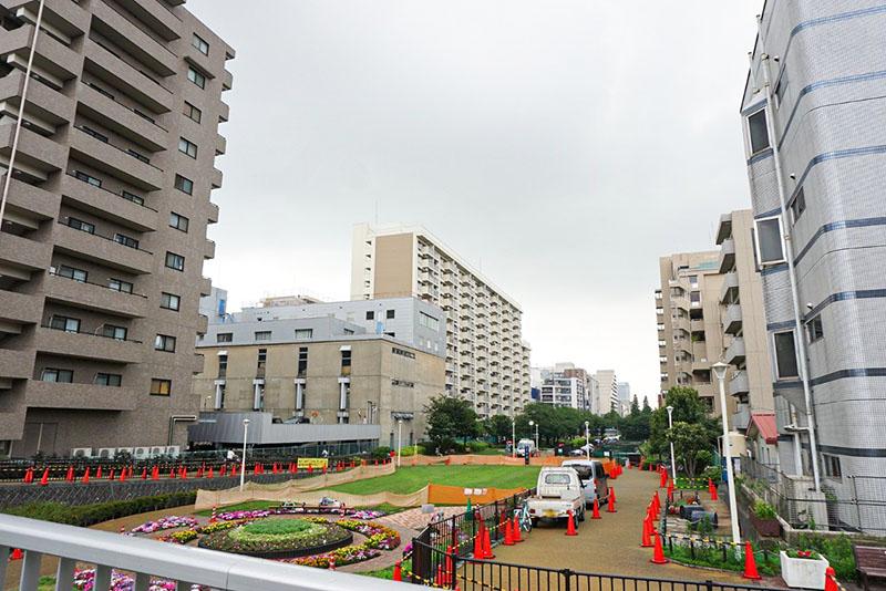 大横川親水公園の風景
