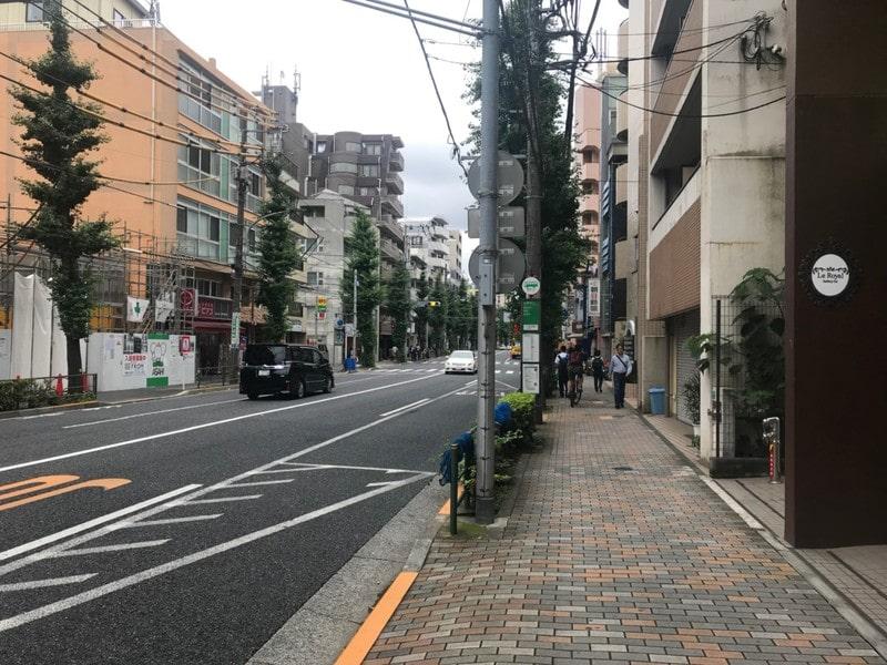 目白通りの道