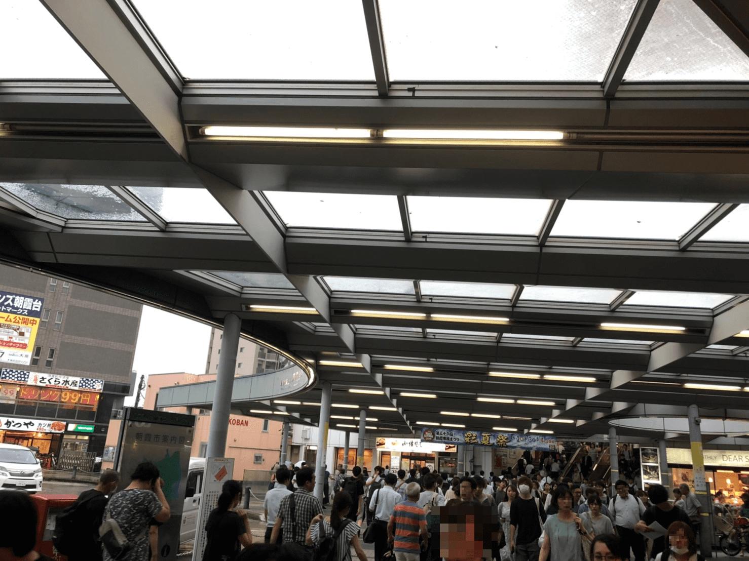 朝霞台駅の帰宅ラッシュ