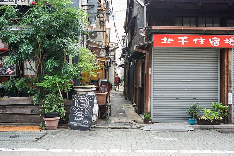 宿場町通りの小道