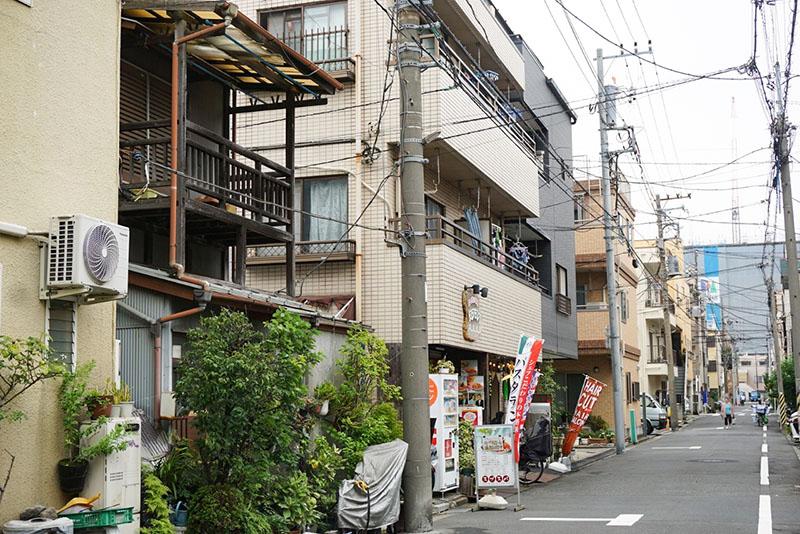 石島周辺の住宅街