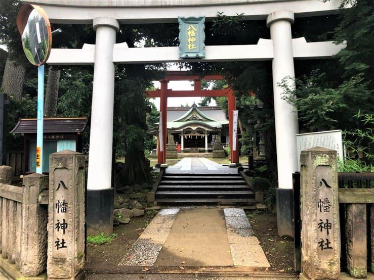 天沼八幡神社の鳥居