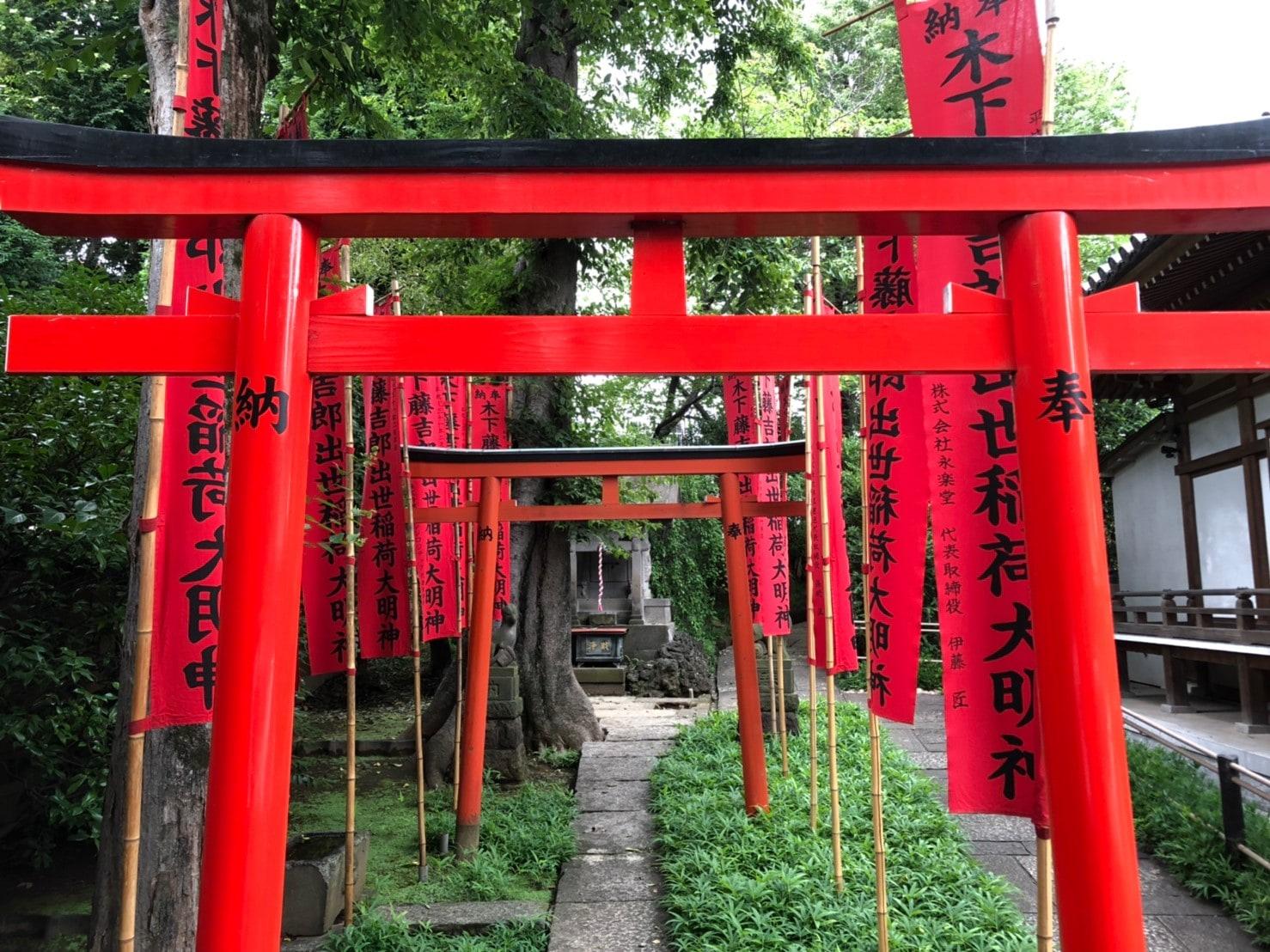 智清寺の鳥居