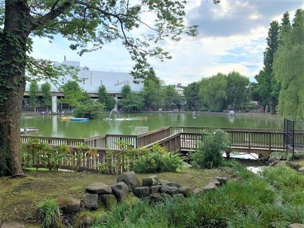 見次公園の大きな池