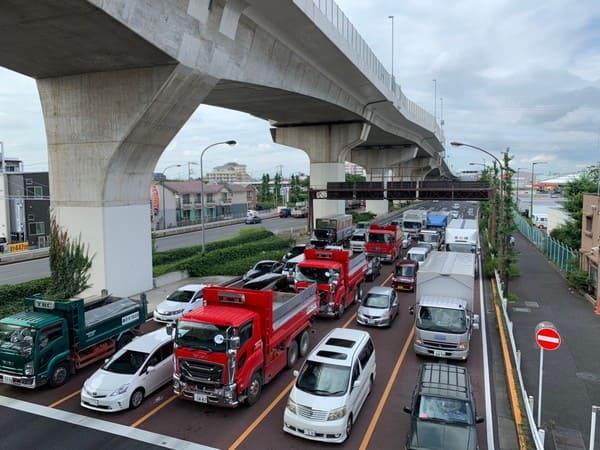 西高島平駅 歩道橋からの風景