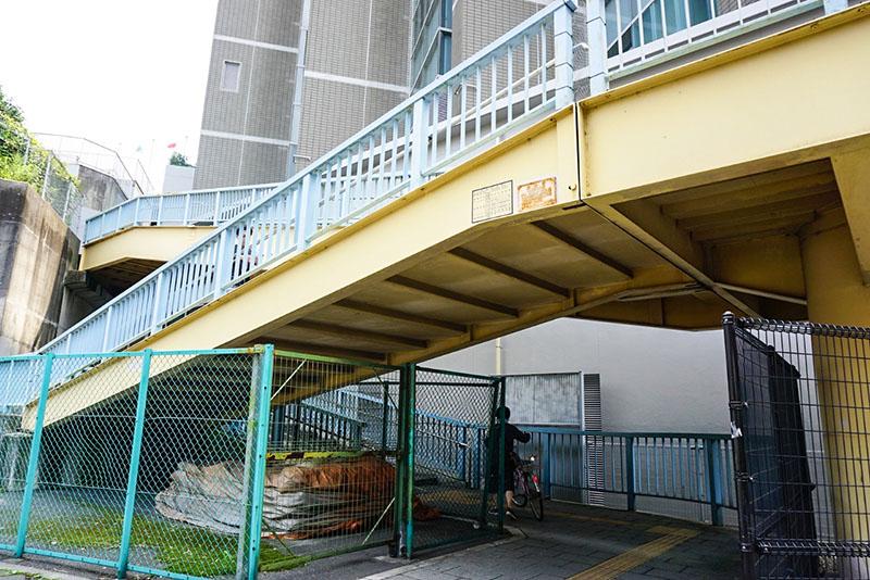 千住新橋南詰の陸橋