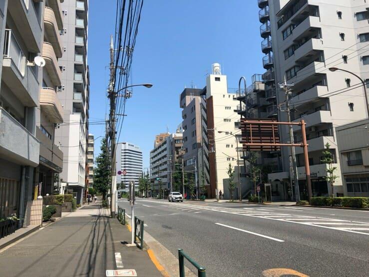 中原街道の街並み