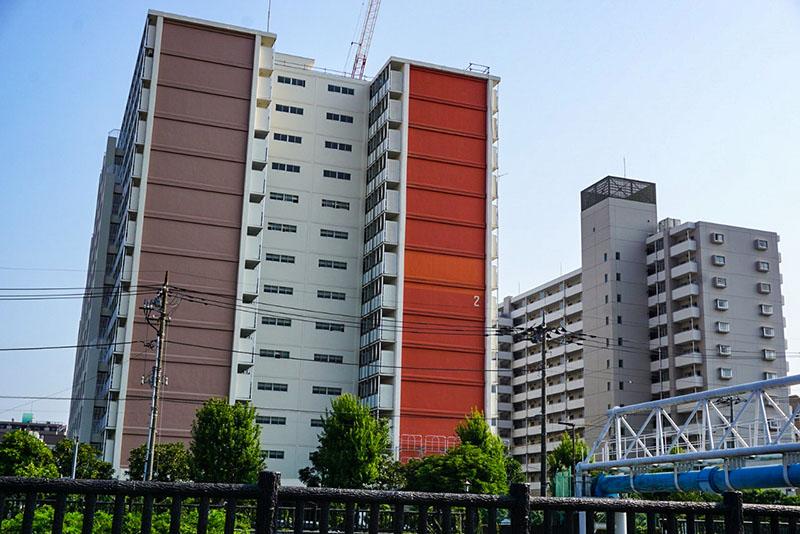 小名木川対岸のマンション
