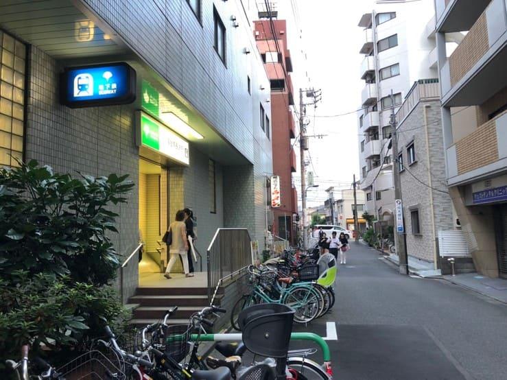 落合南長崎駅の違法駐輪