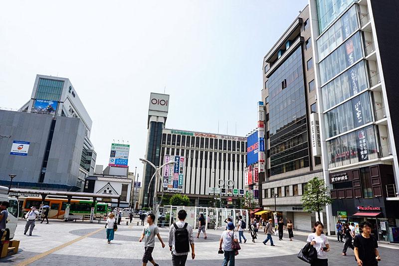 錦糸町駅南口から見た風景