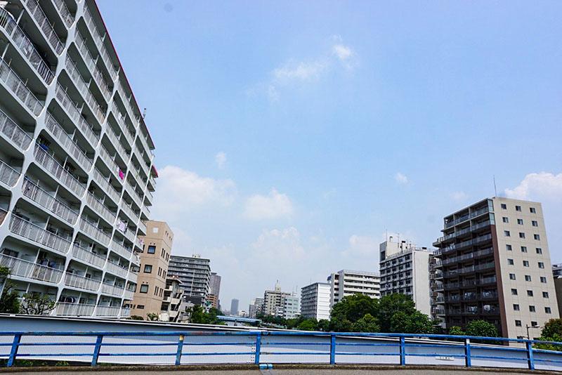 錦糸橋の上から見た北側の風景