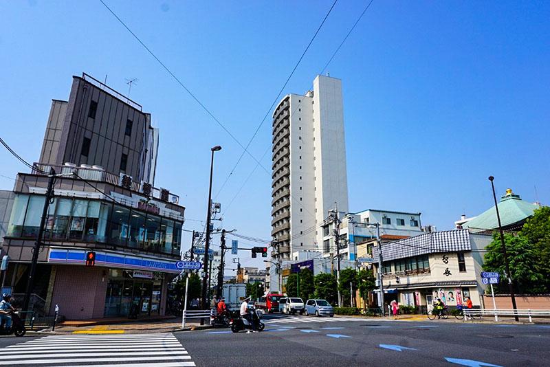 西大島駅前の交差点