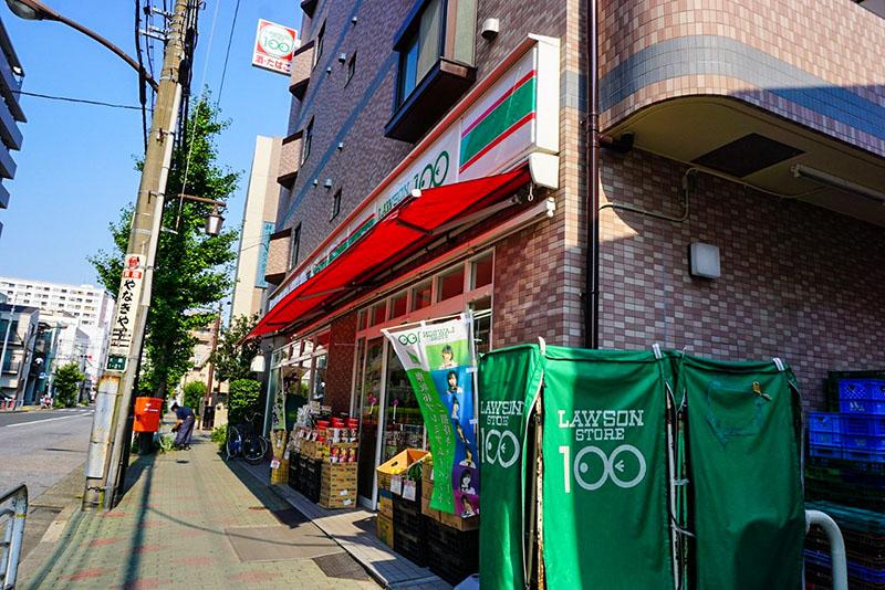 釜屋堀通りの100円ローソン