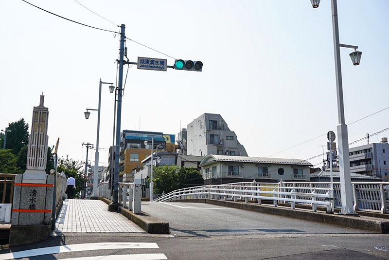 城東清水橋の景色