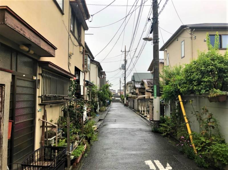 豊島園通り横の路地