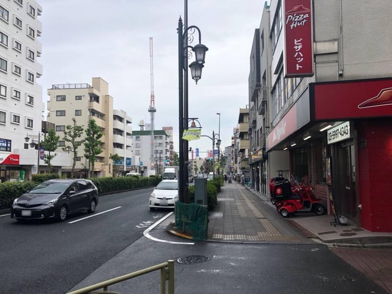 川越街道の街並み