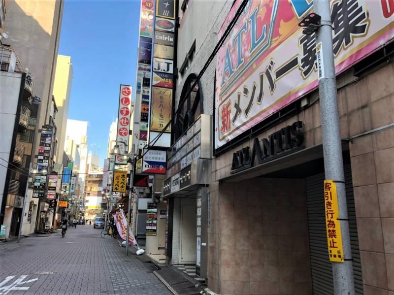 上野広小路駅周辺の路地の風俗街