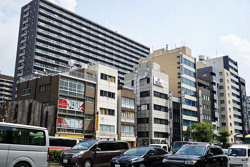 京葉道路の西側の風景