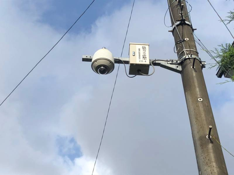街灯防犯カメラ
