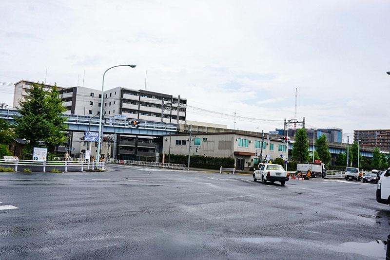 清砂大橋西詰前の交差点