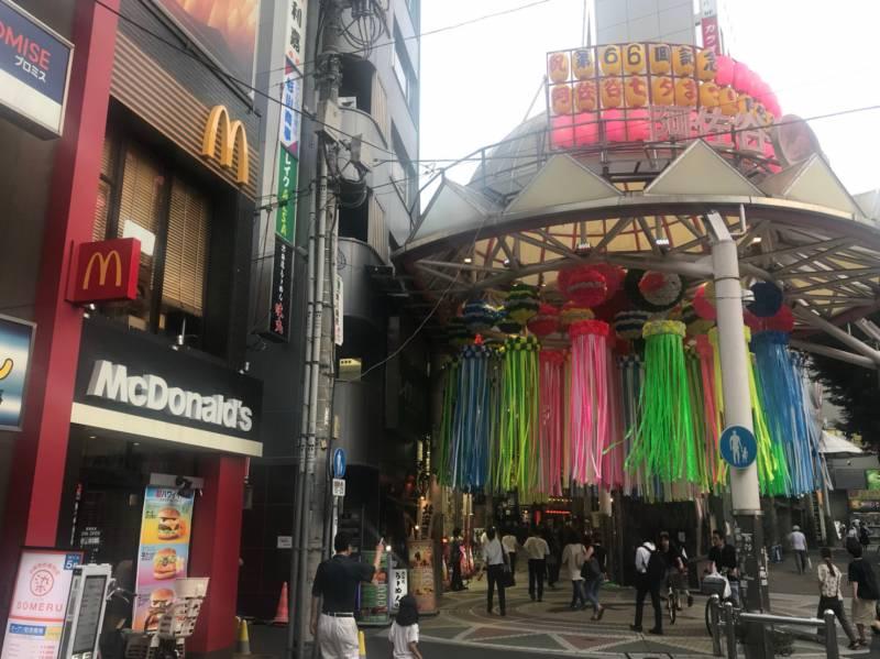 阿佐ヶ谷パール商店街の入り口