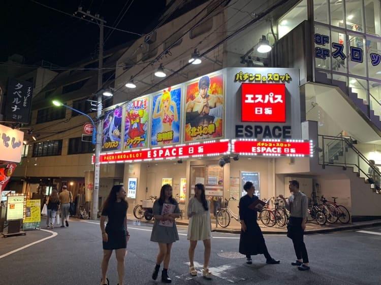 高田馬場駅の裏通りの風景