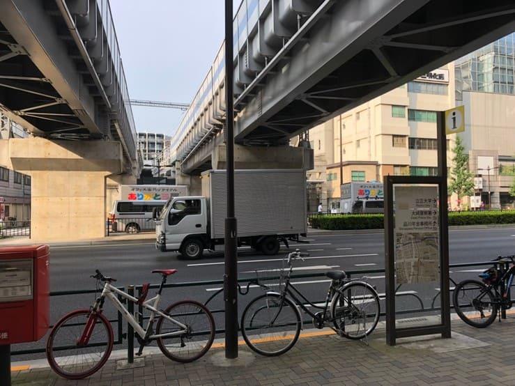 大崎広小路の駅前の通り