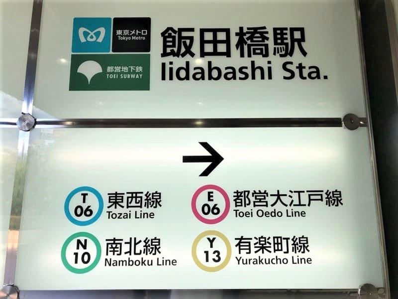 飯田橋駅各路線案内サイン