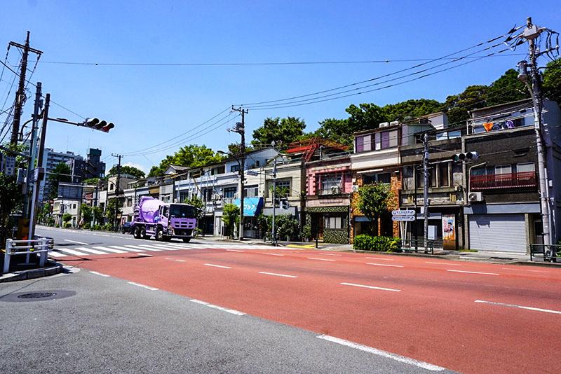 清澄通りの南側の風景