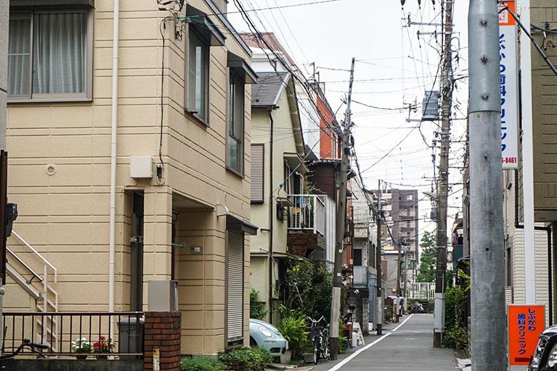 細道の住宅