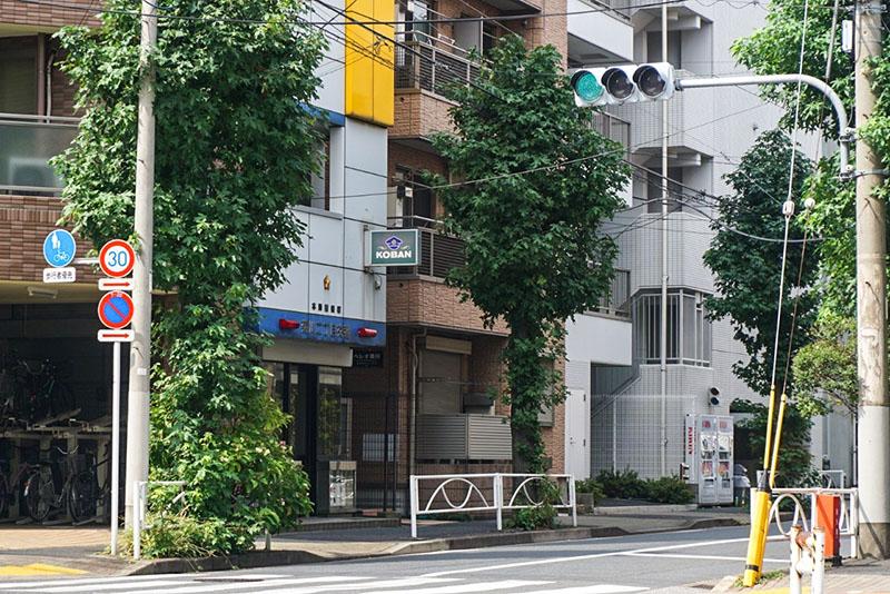菊川二丁目の交差点