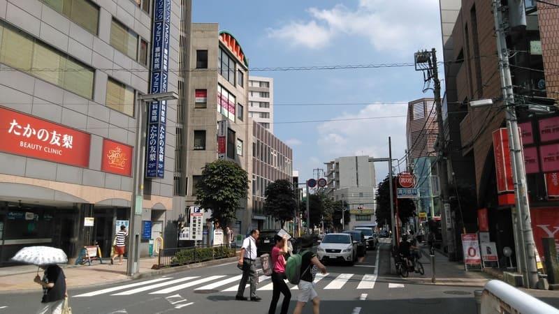 志木駅東口付近
