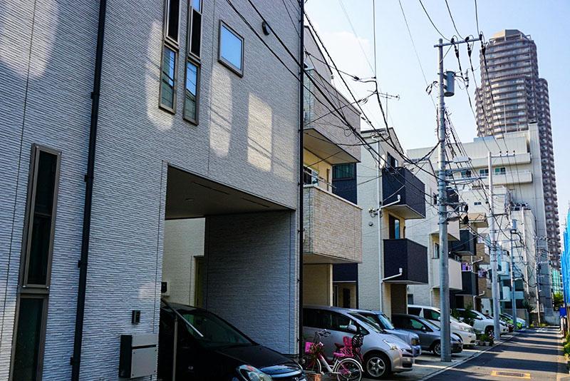 小名木川から1本中に入った住宅